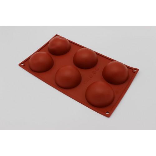 Molde Silicone 6 Cavidades Esfera 70x35mm - Caferra